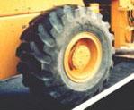 大型タイヤ焼付修理